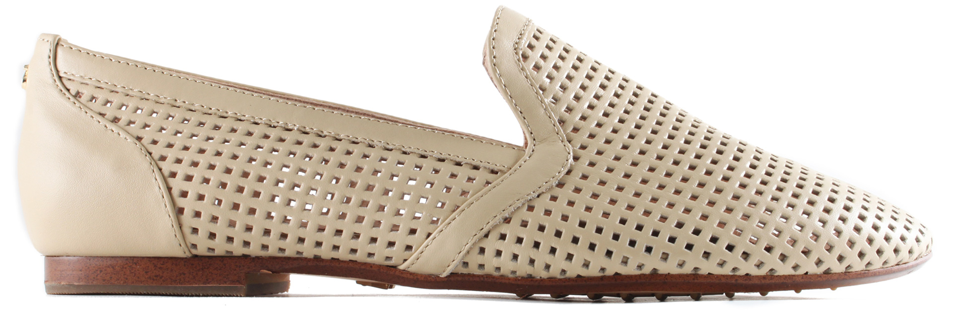 Shop the look: Yosi Samra Perforated Loafer in Biscotti (yosisamra.com, $150)