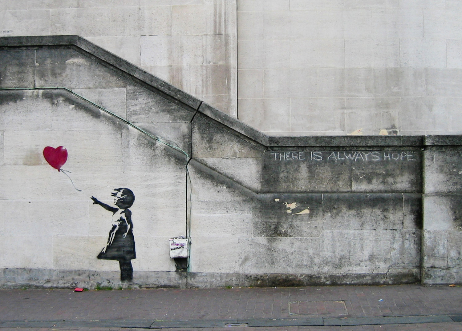 print of graffiti art by Banksy