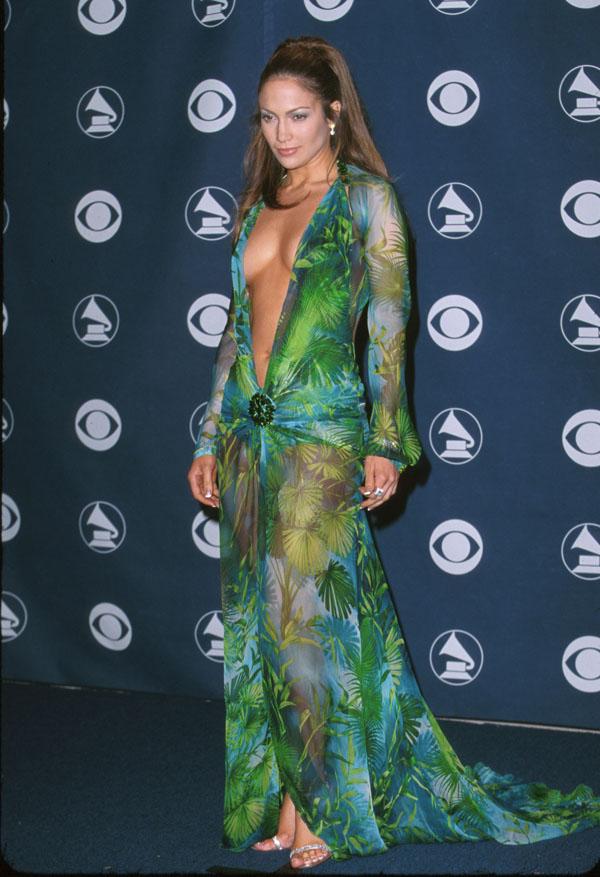 Jennifer Lopez Green Dresses Photo credit Wire Image