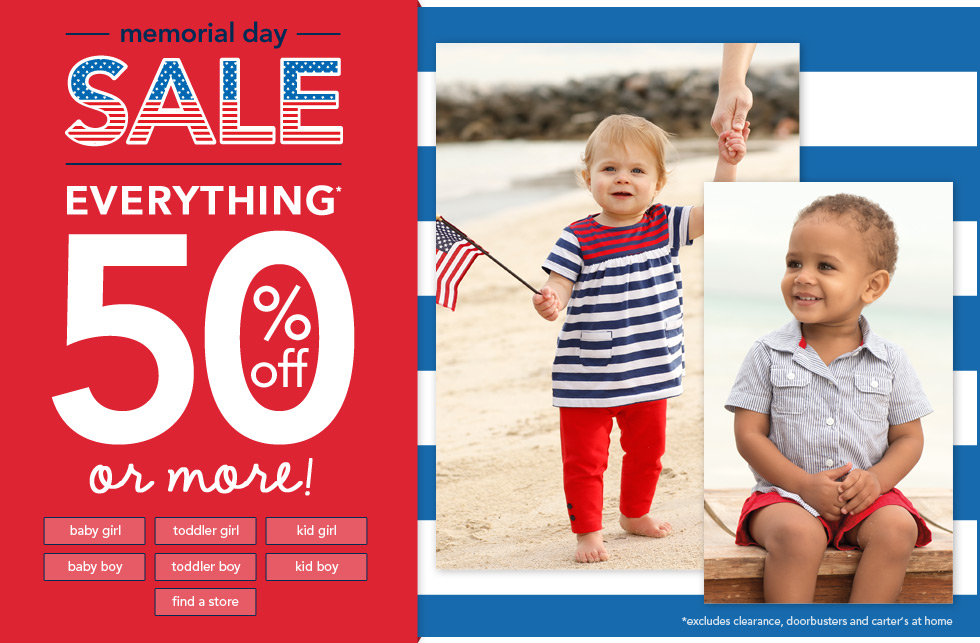 Carter's Memorial Day sale