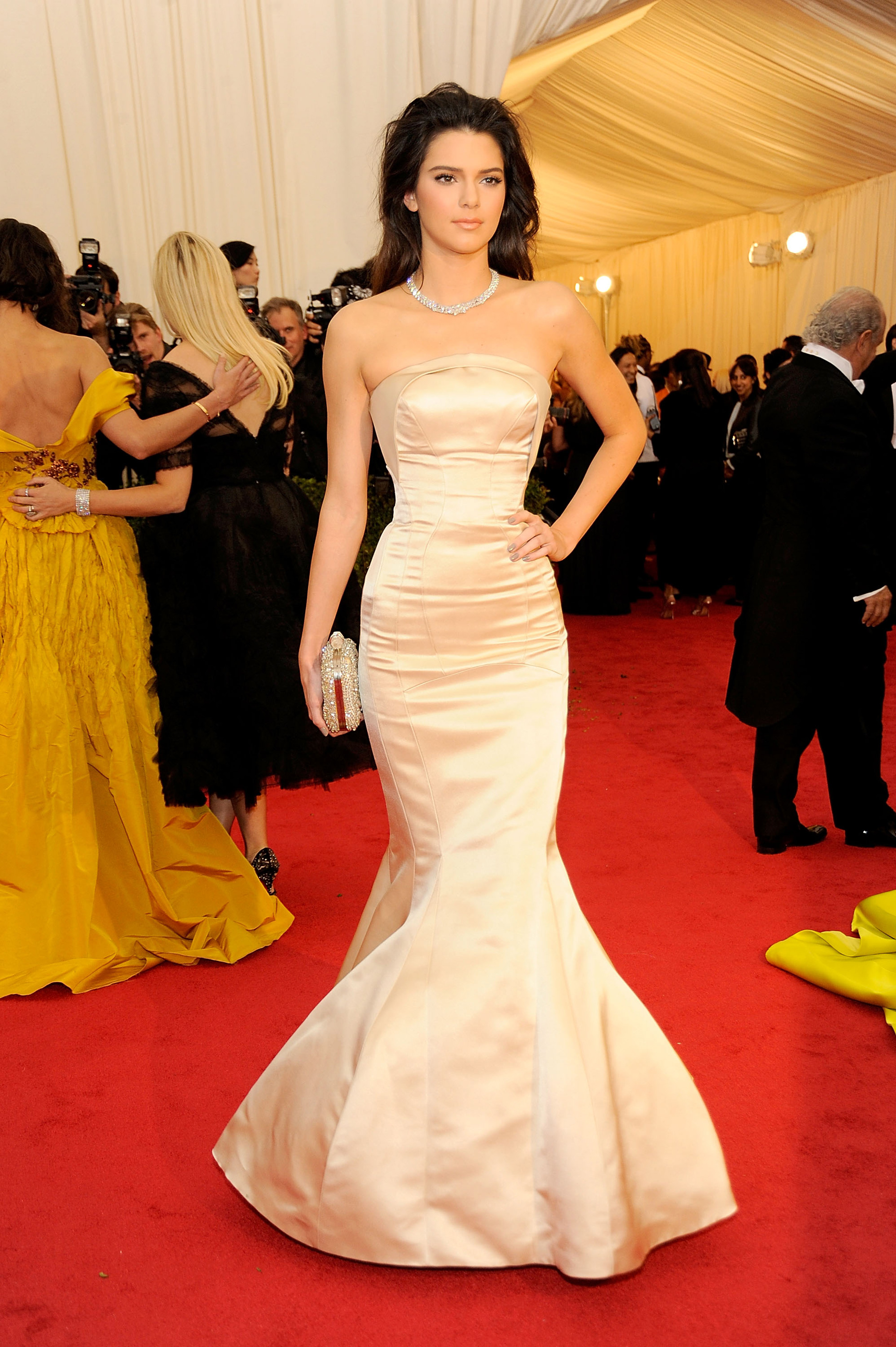 kendall jenner glam in topshop at the met gala