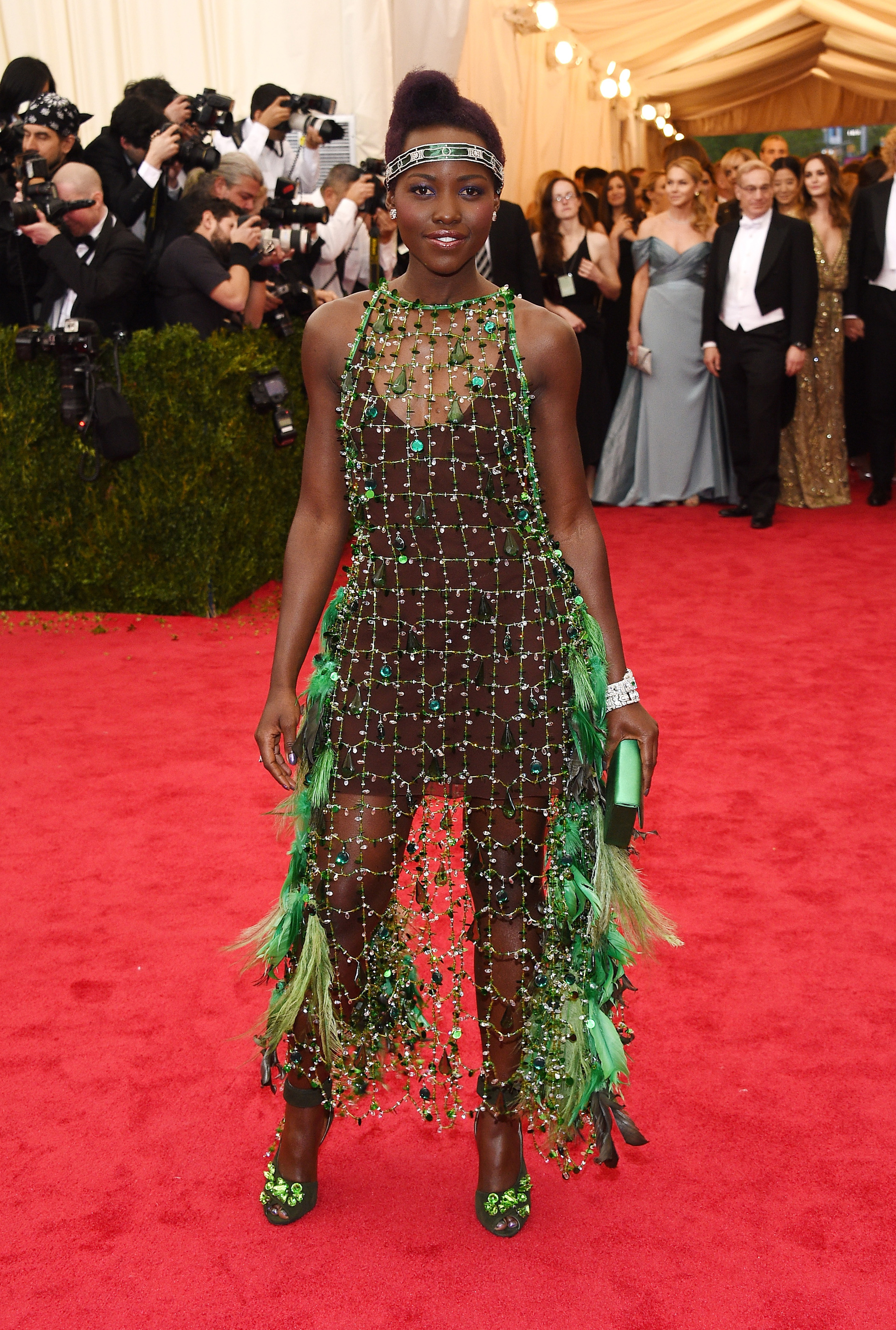 Lupita Nyon'go at the 2014 Met Gala