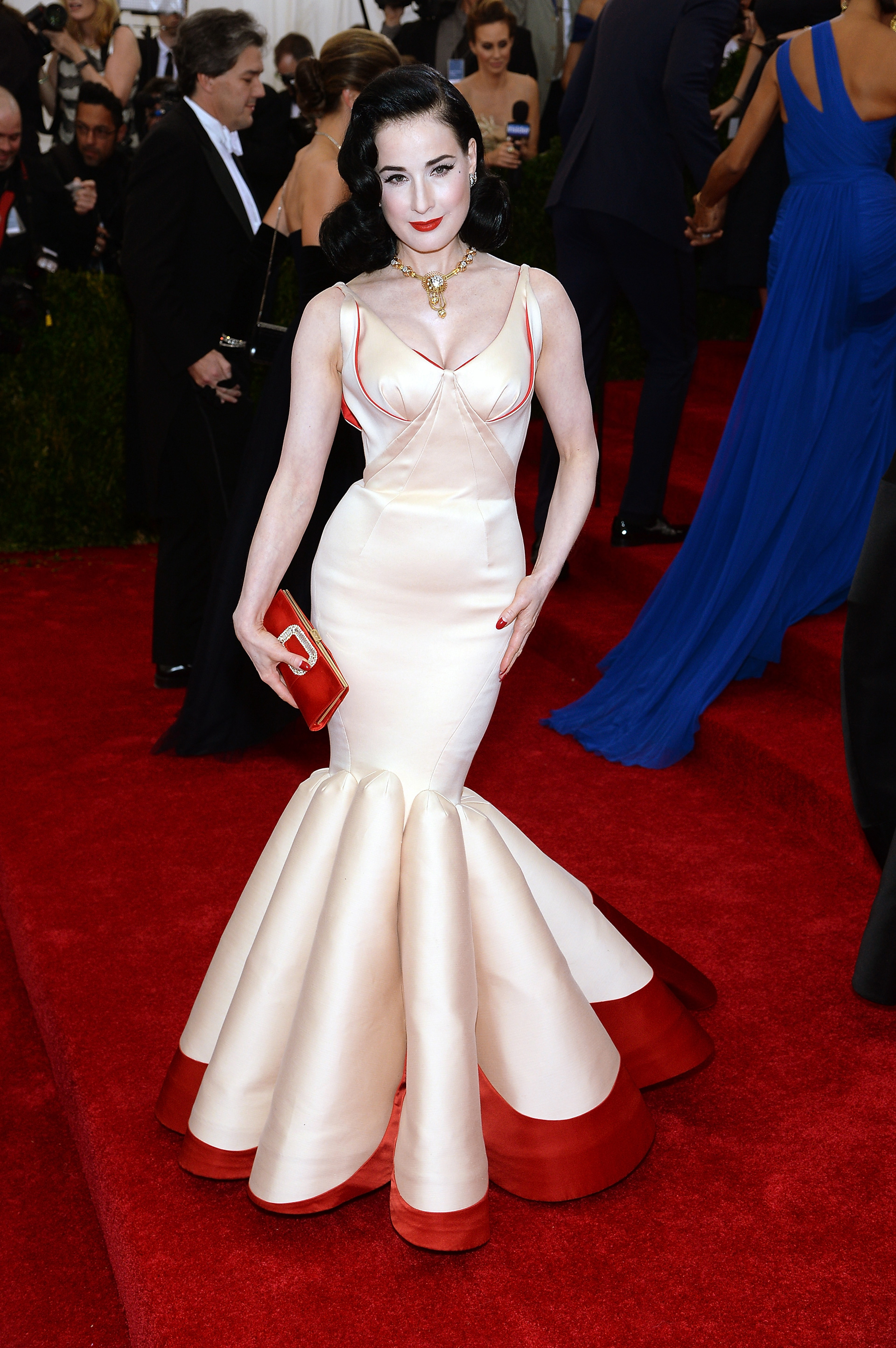 Dita Von Teese at the 2014 Met Gala