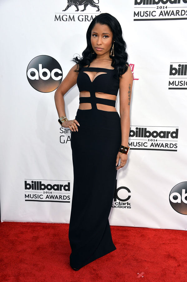 Nicki's gorgeous all-natural style