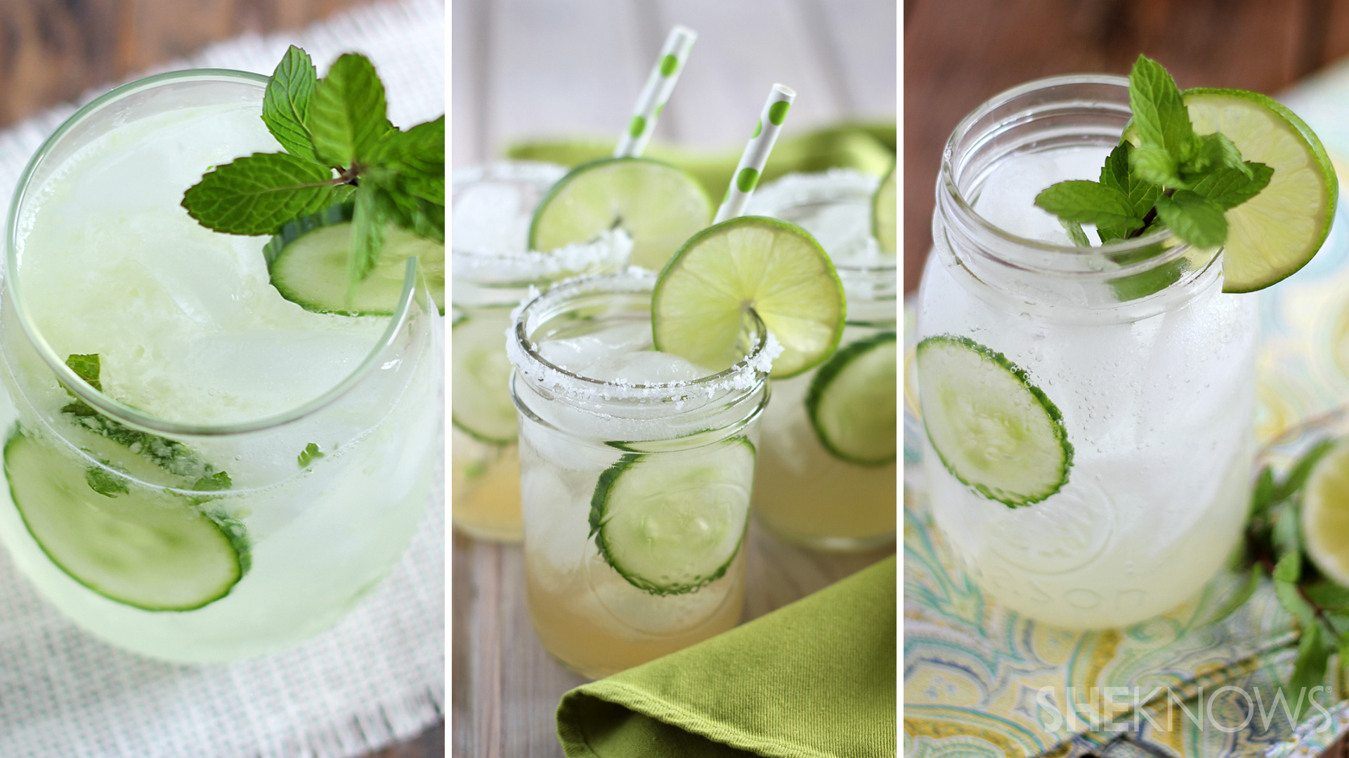 Refreshing cucumber cocktail 3 ways