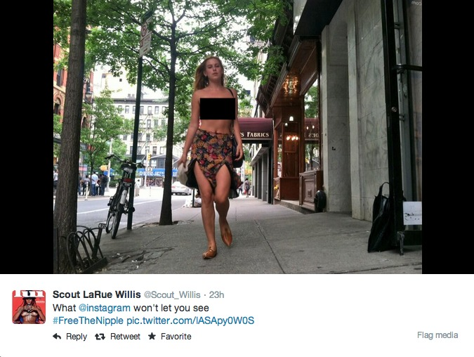 PHOTOS: Scout Willis goes topless in NYC to #FreeTheNipple