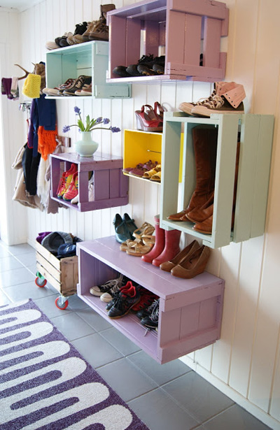 shoe trolley DIY shoe organizer