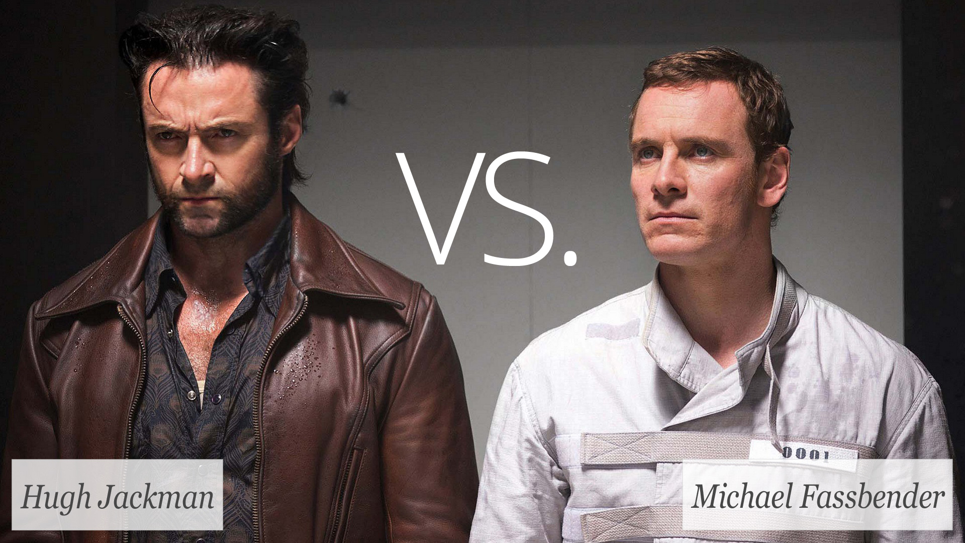 Hugh Jackman and Michael Fassbender in X-Men