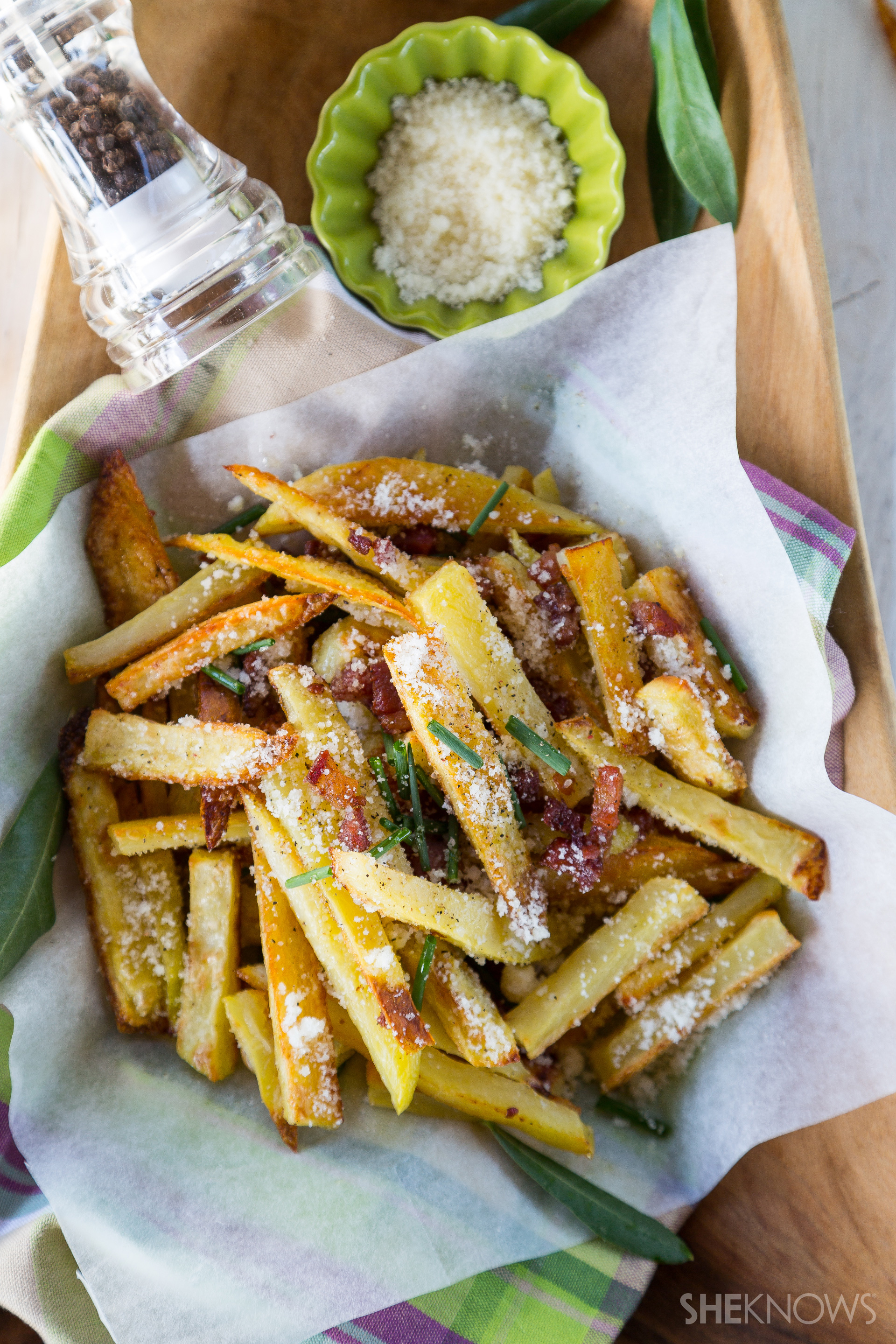 Baked fries full of our favorite pasta dish flavors
