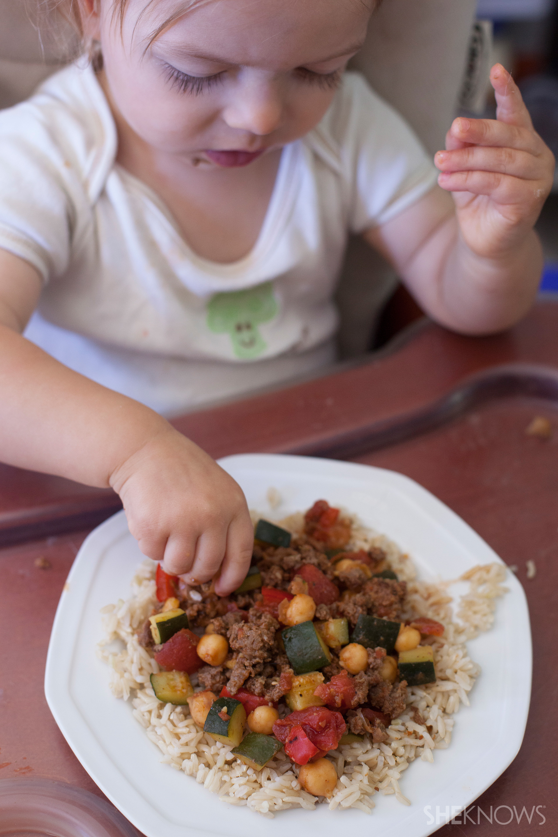 A chunky meal perfect for toddler fingers