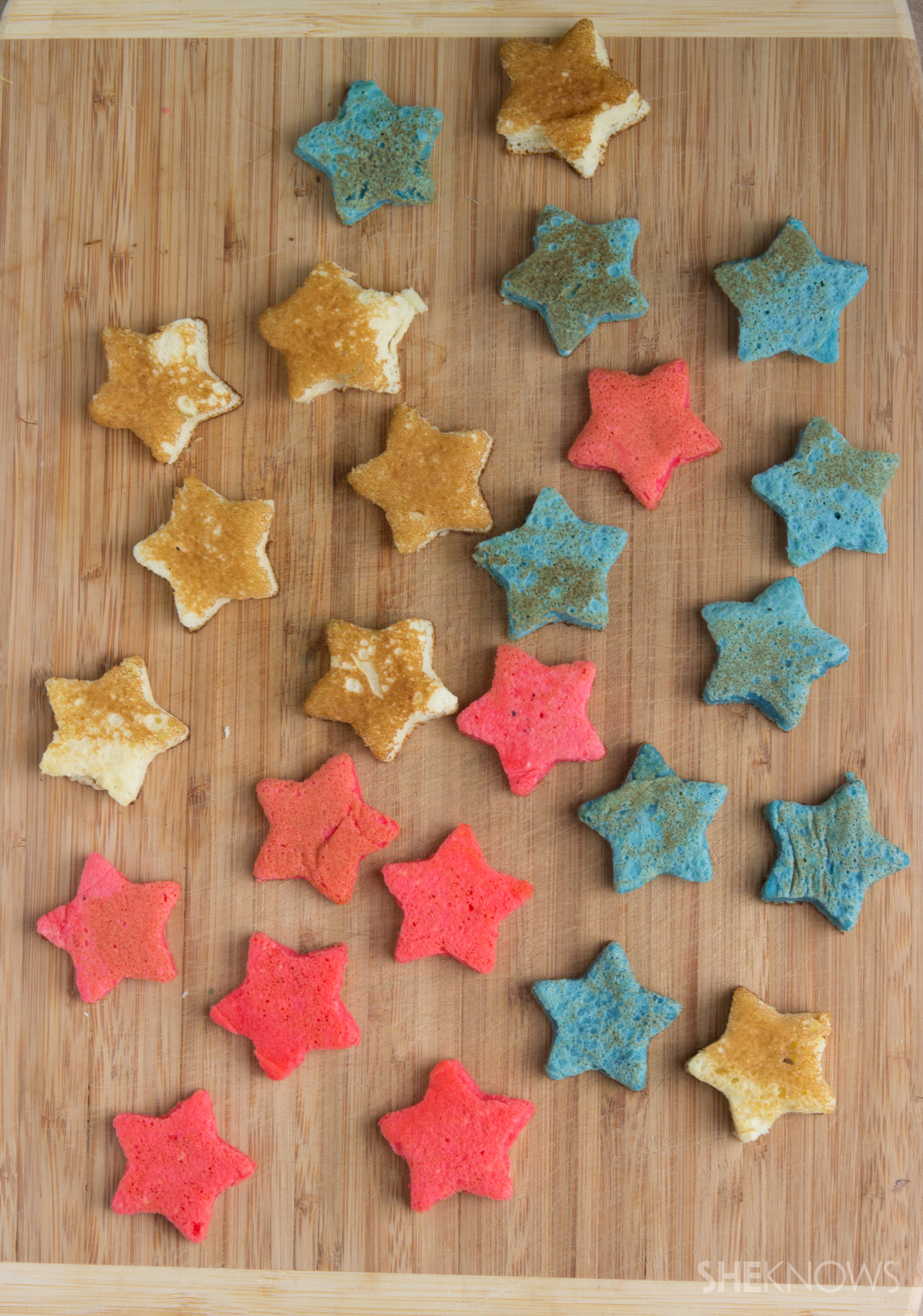 Star pancake skewers