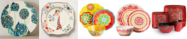 Colorful dishware to replace your thrift shop finds