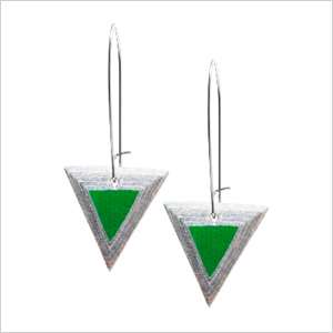 Paper Triangle Drop Earrings