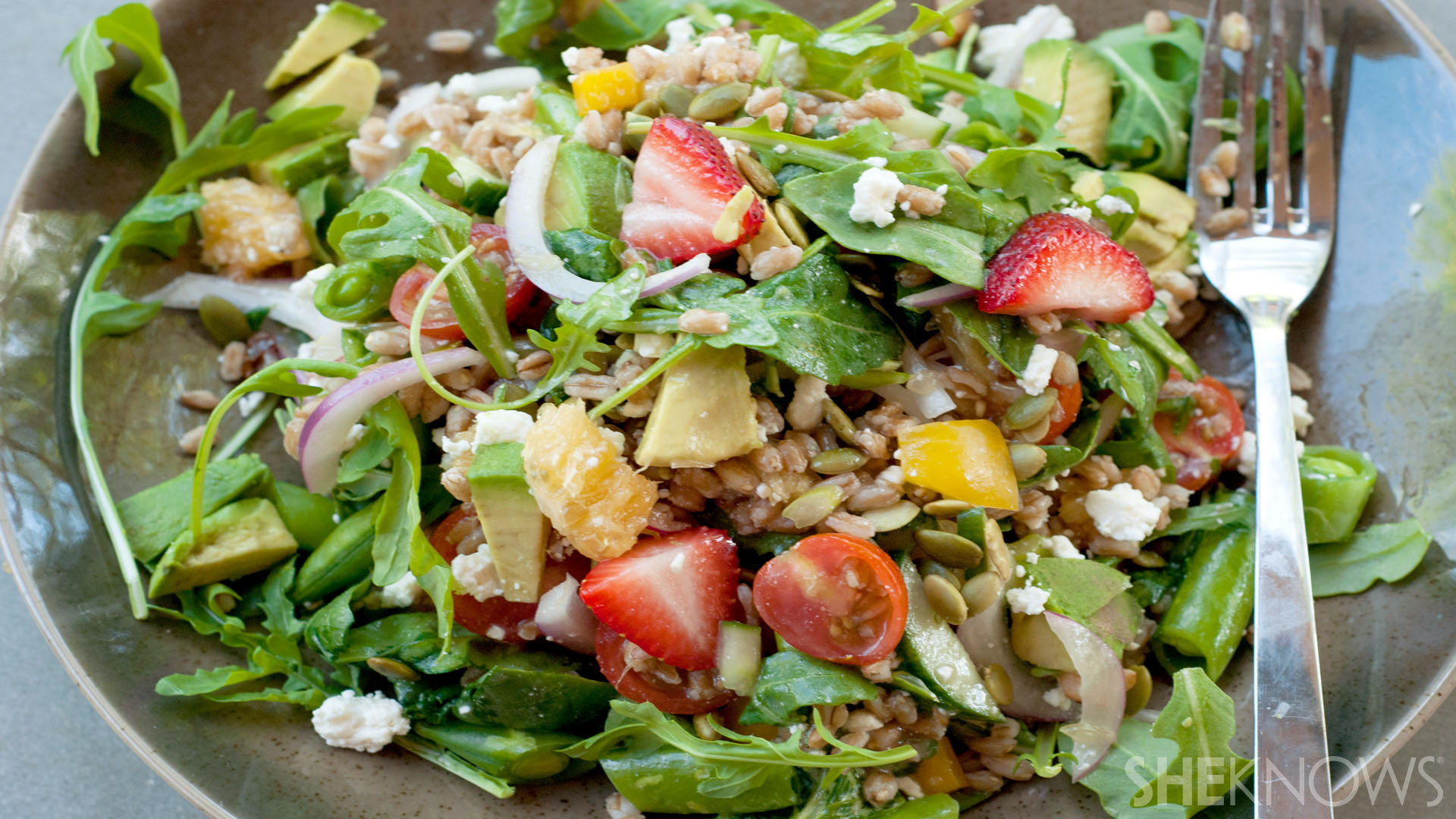 Farmers market farro salad with citrus recipe|