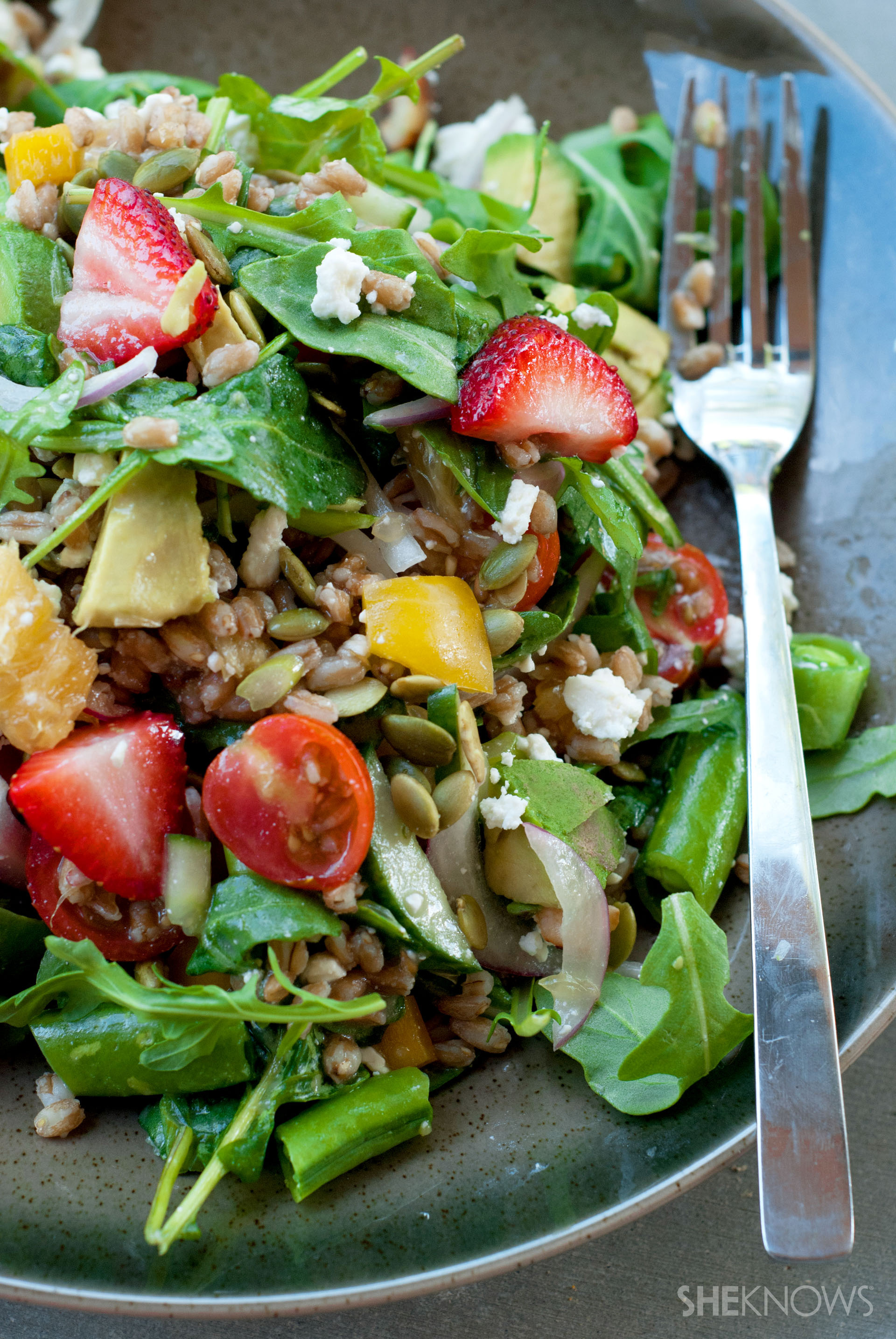 Farmers market farro salad with citrus recipe
