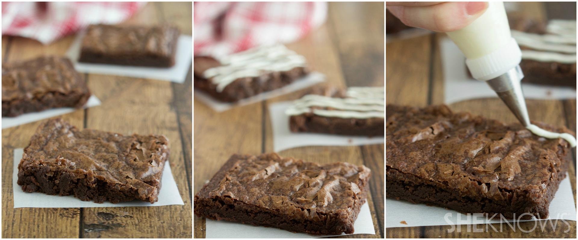 Flag brownie tarts