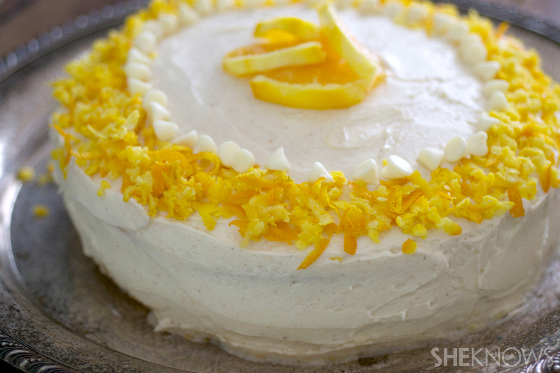 Fresh orange, honey and ricotta wedding cake