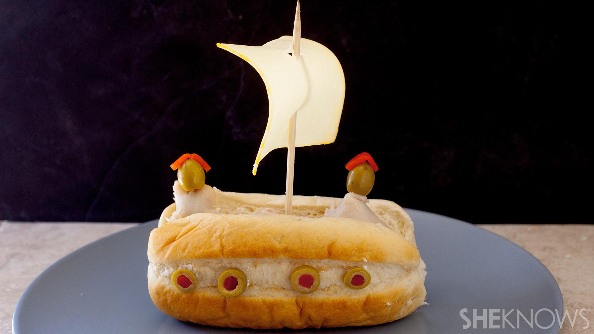 Set sail sandwiches