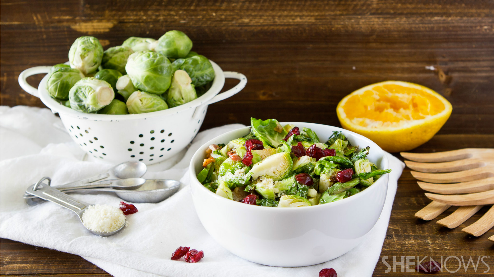 Grilled brussels sprouts salad
