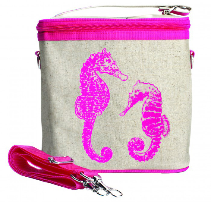 Neon Pink Seahorses Large Cooler Bag | Sheknows.com