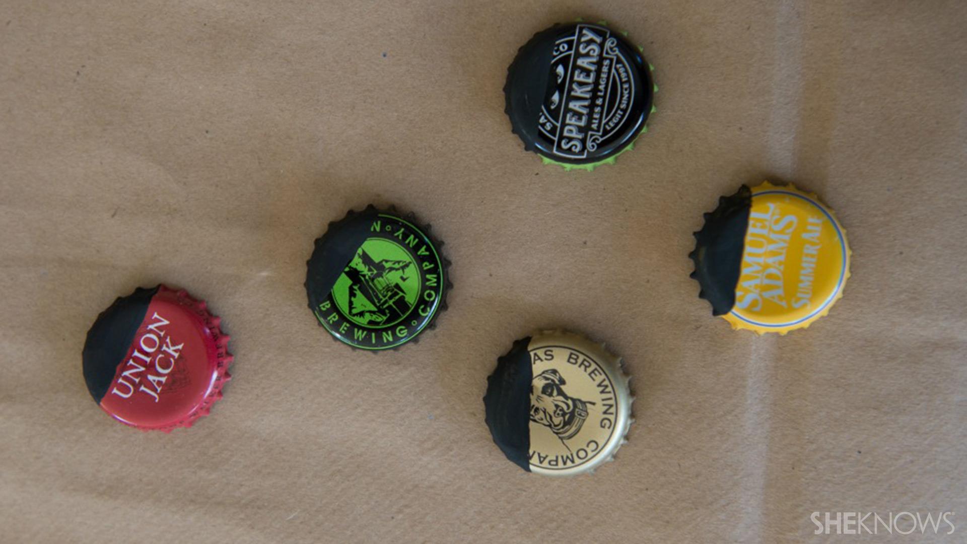Bottle cap magnets | Sheknows.com - paint