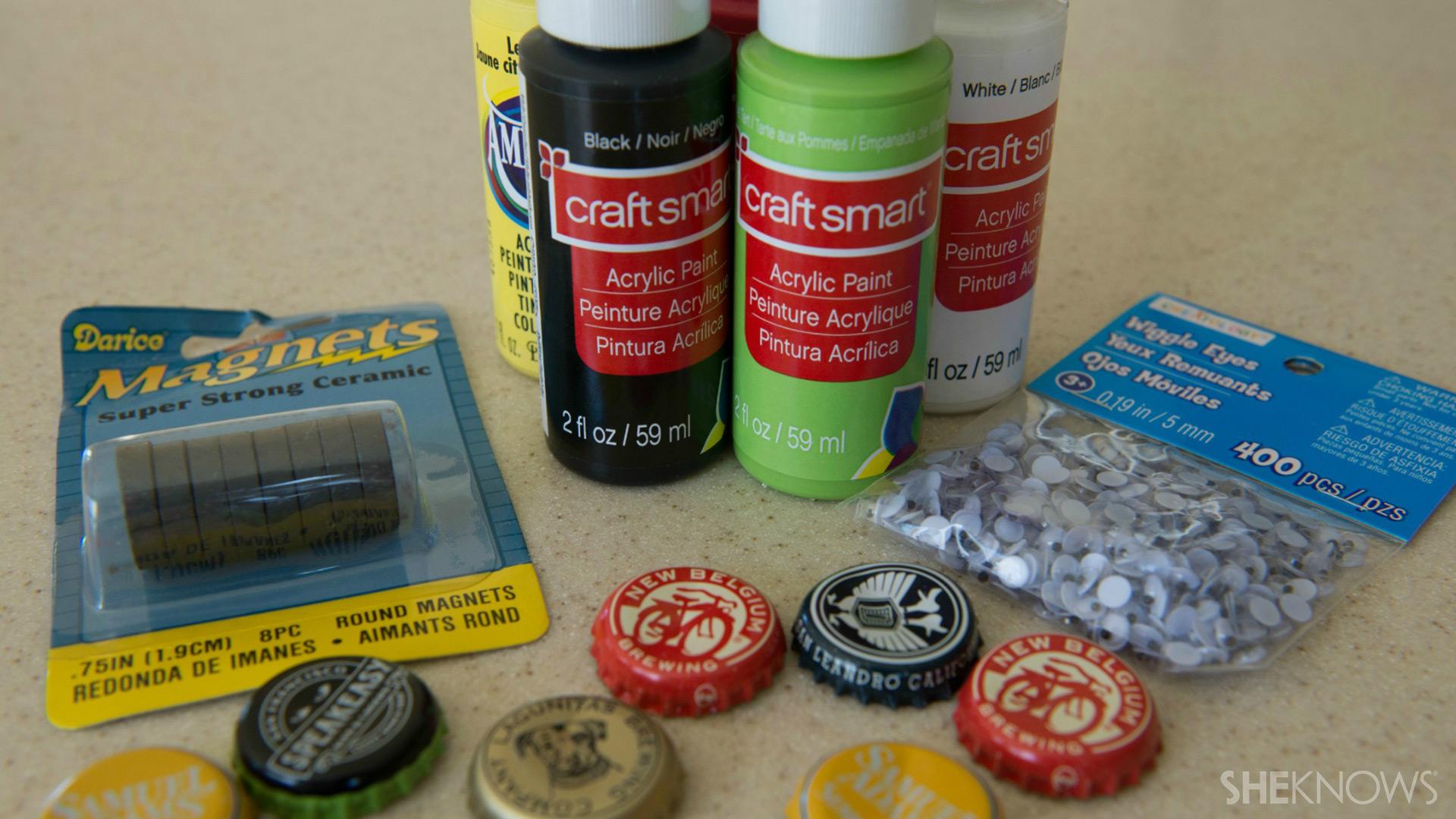 Bottle cap magnets | Sheknows.com - supplies