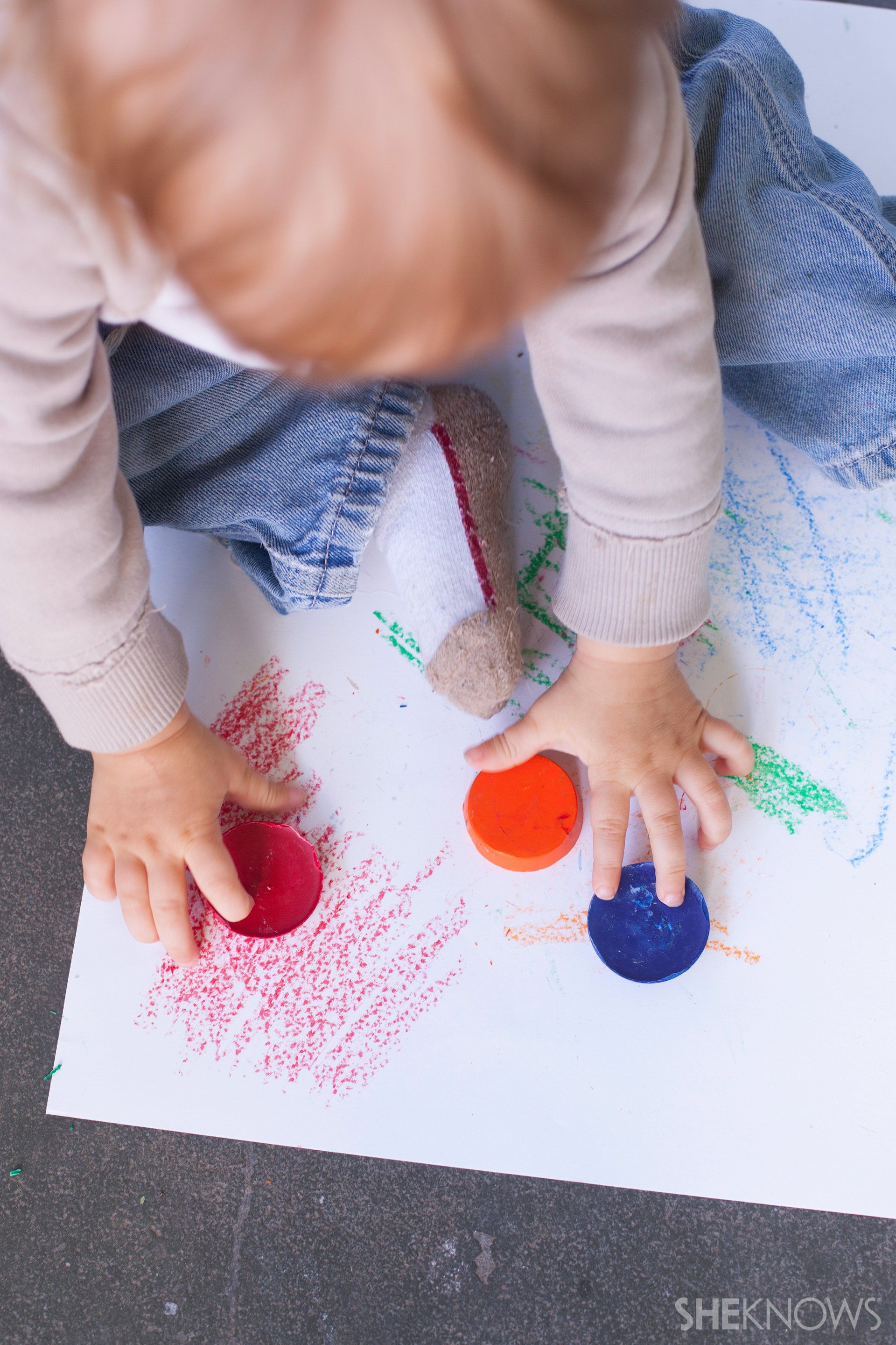 Learn how to make your own chubby crayons for little hands