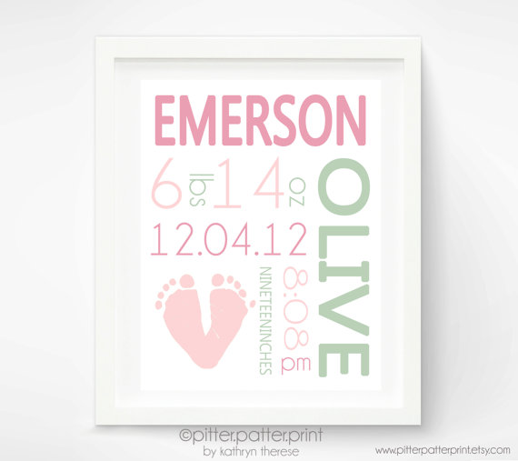 Birth Details Nursery Wall Art | Sheknows.com