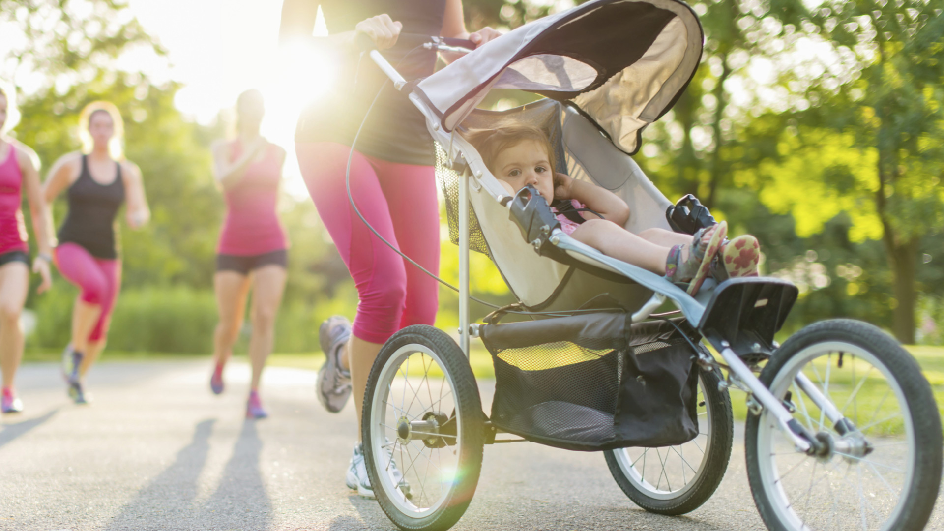 Woman jogging with stroller | PregnancyAndBaby.com