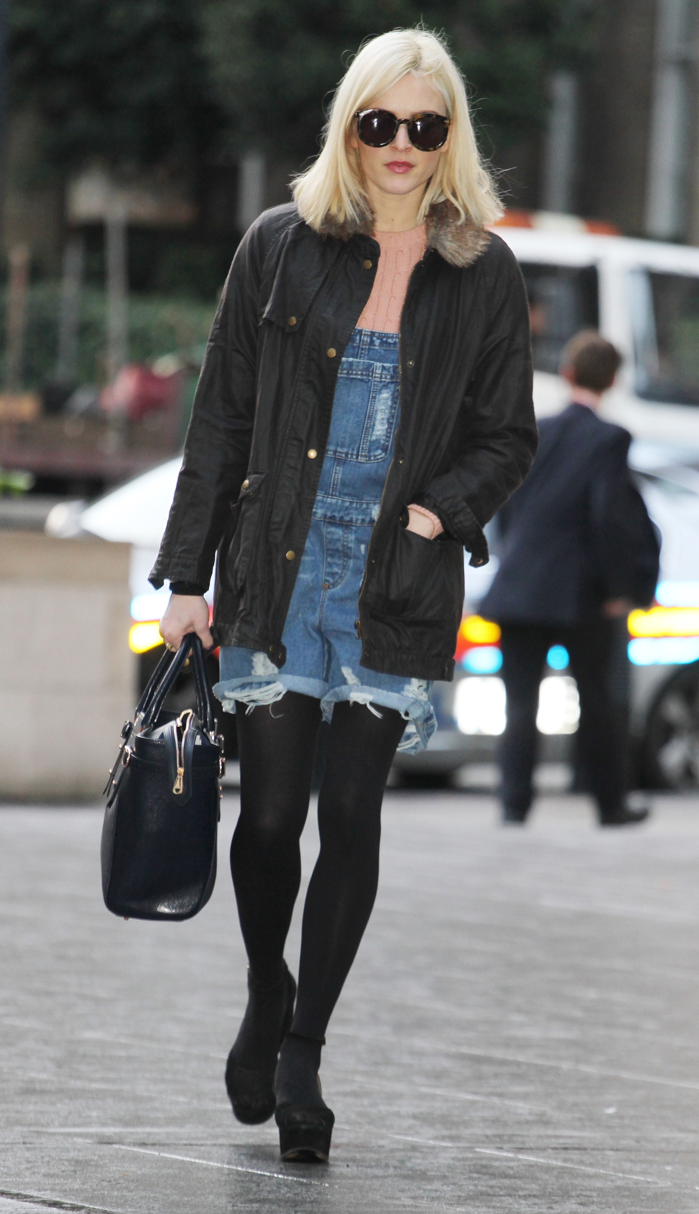 Fearne Cotton wearing overalls