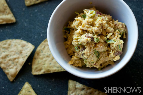 Curried chickpea spread