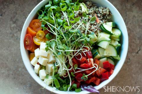 Farmer's market quinoa bowls recipe