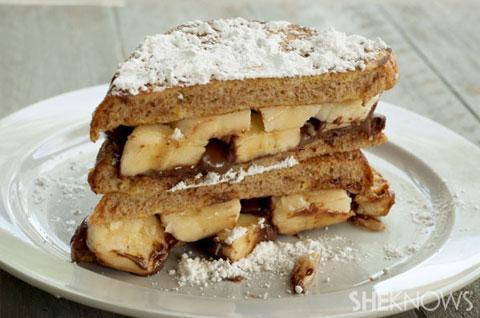 Banana nutella French toast recipe