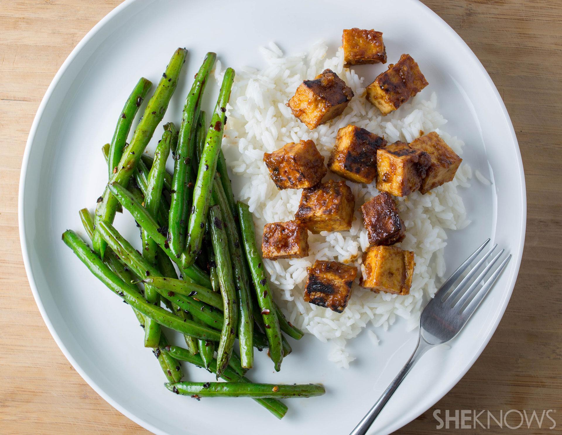 Weeknight vegan dinner