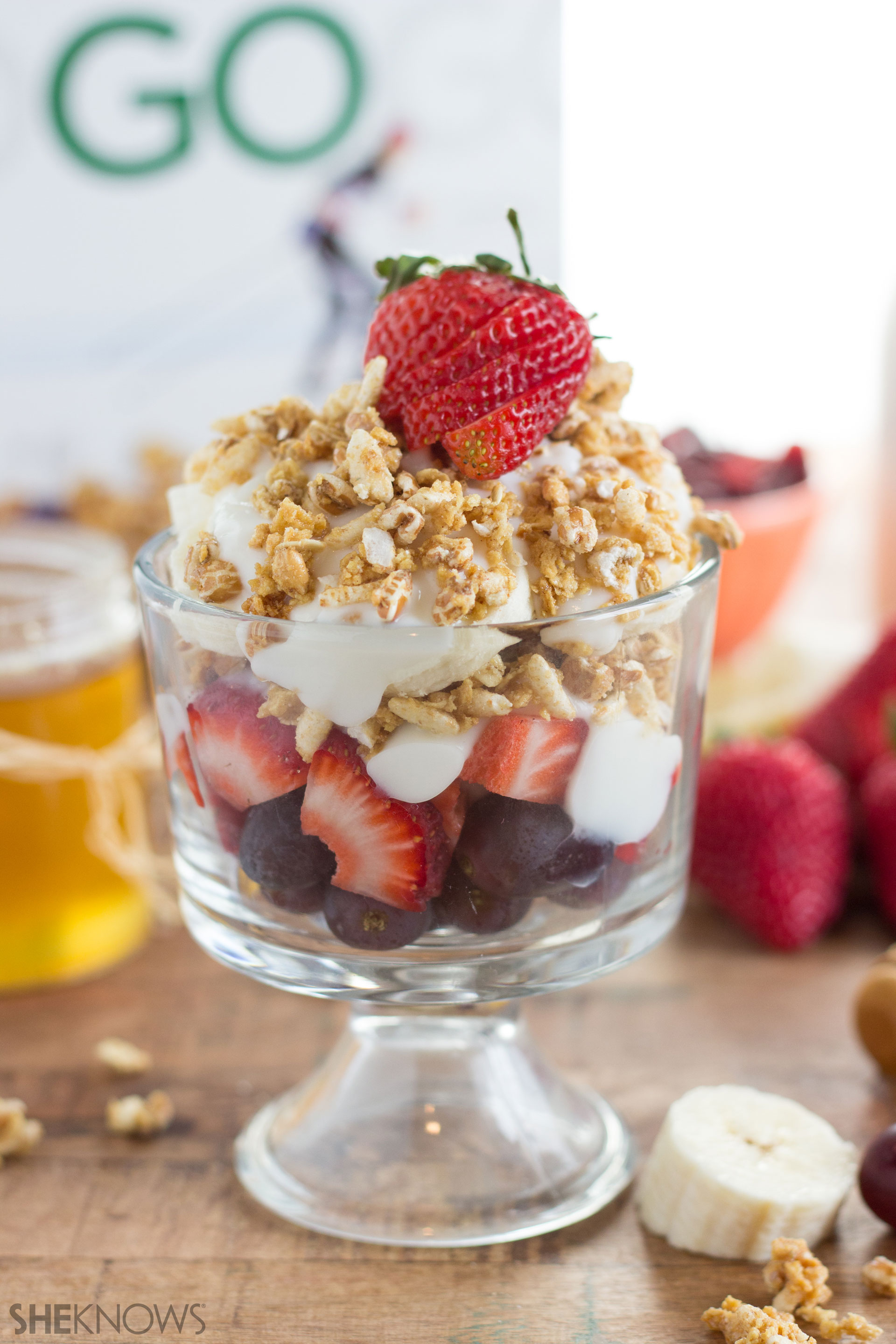 Summer fruit parfait