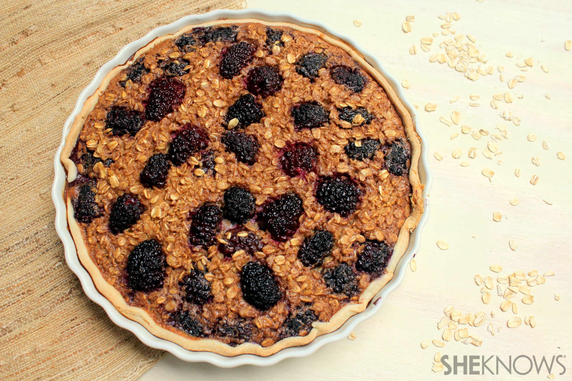 Oatmeal and Blackberry Pie 4