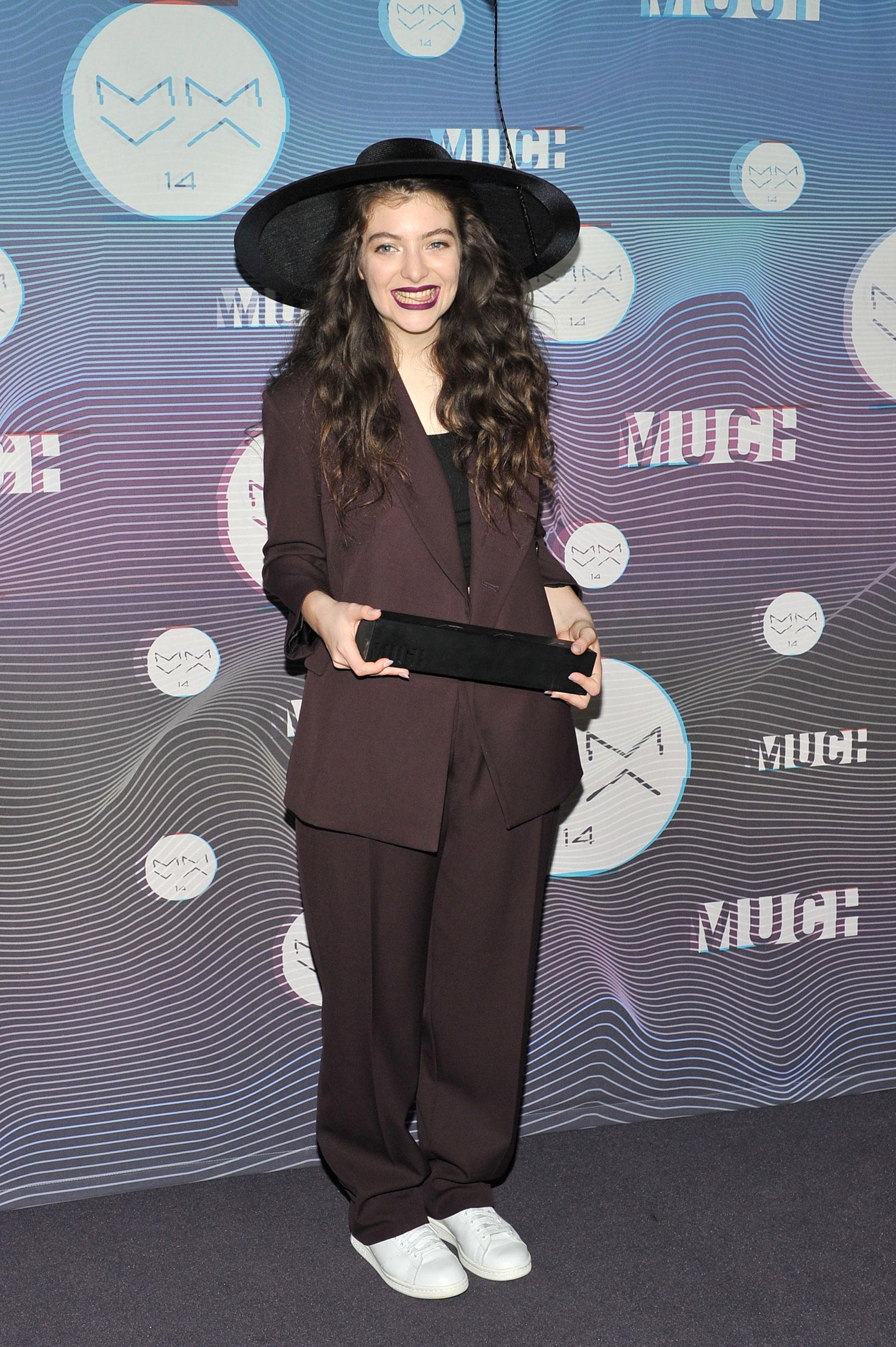 Lorde: Long curls