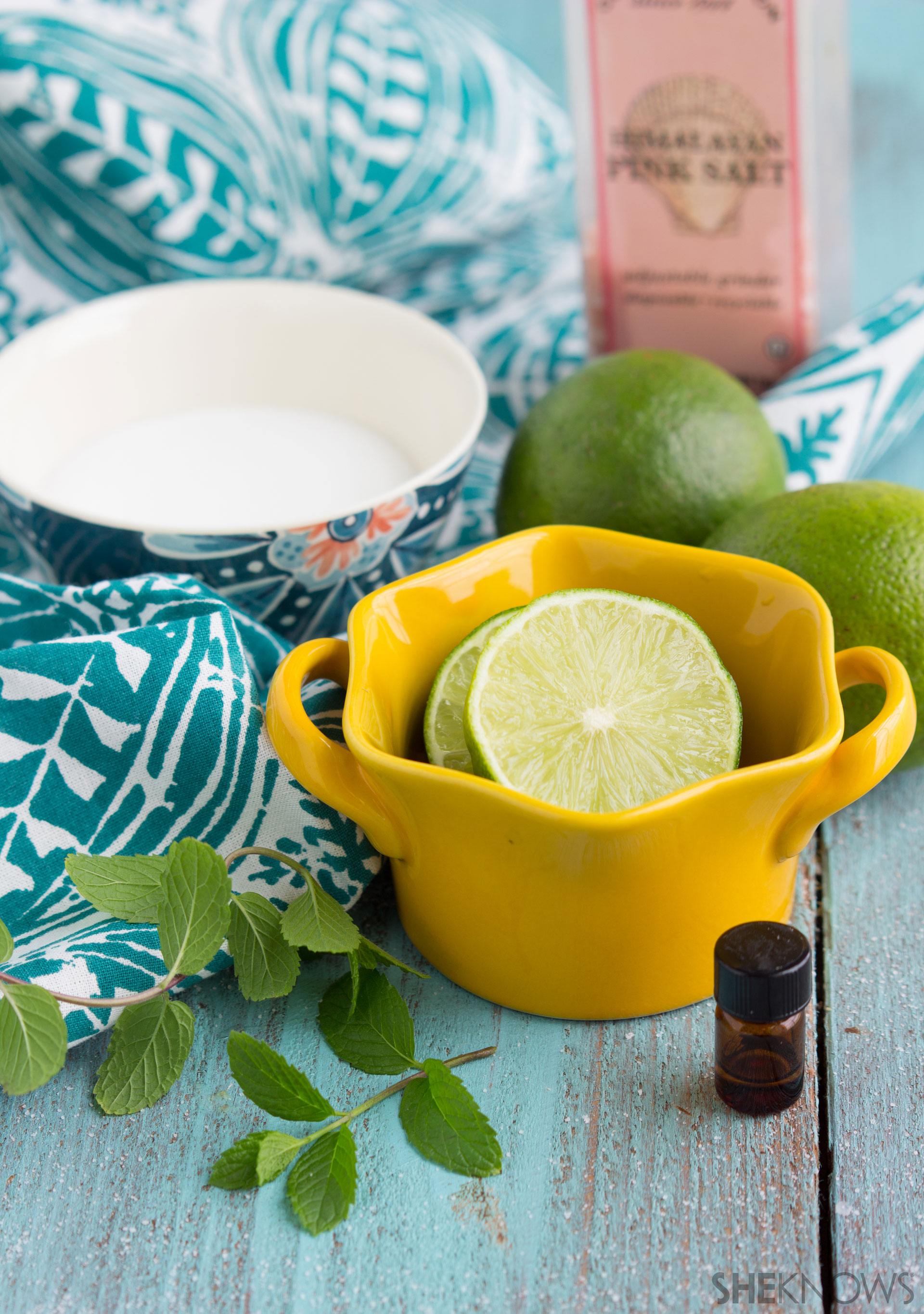 Mojito-Inspired face scrub ingredients