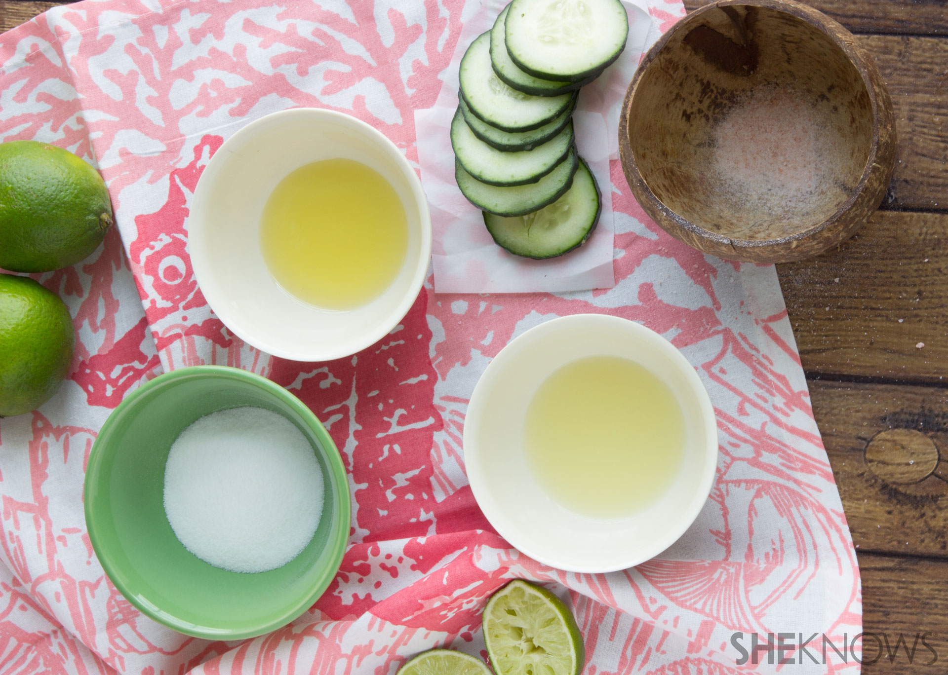 Margarita DIY facial scrub mix 2