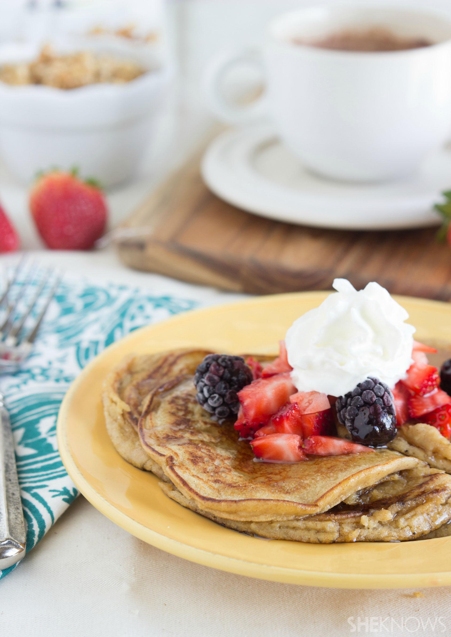 Fiber-filled pancakes