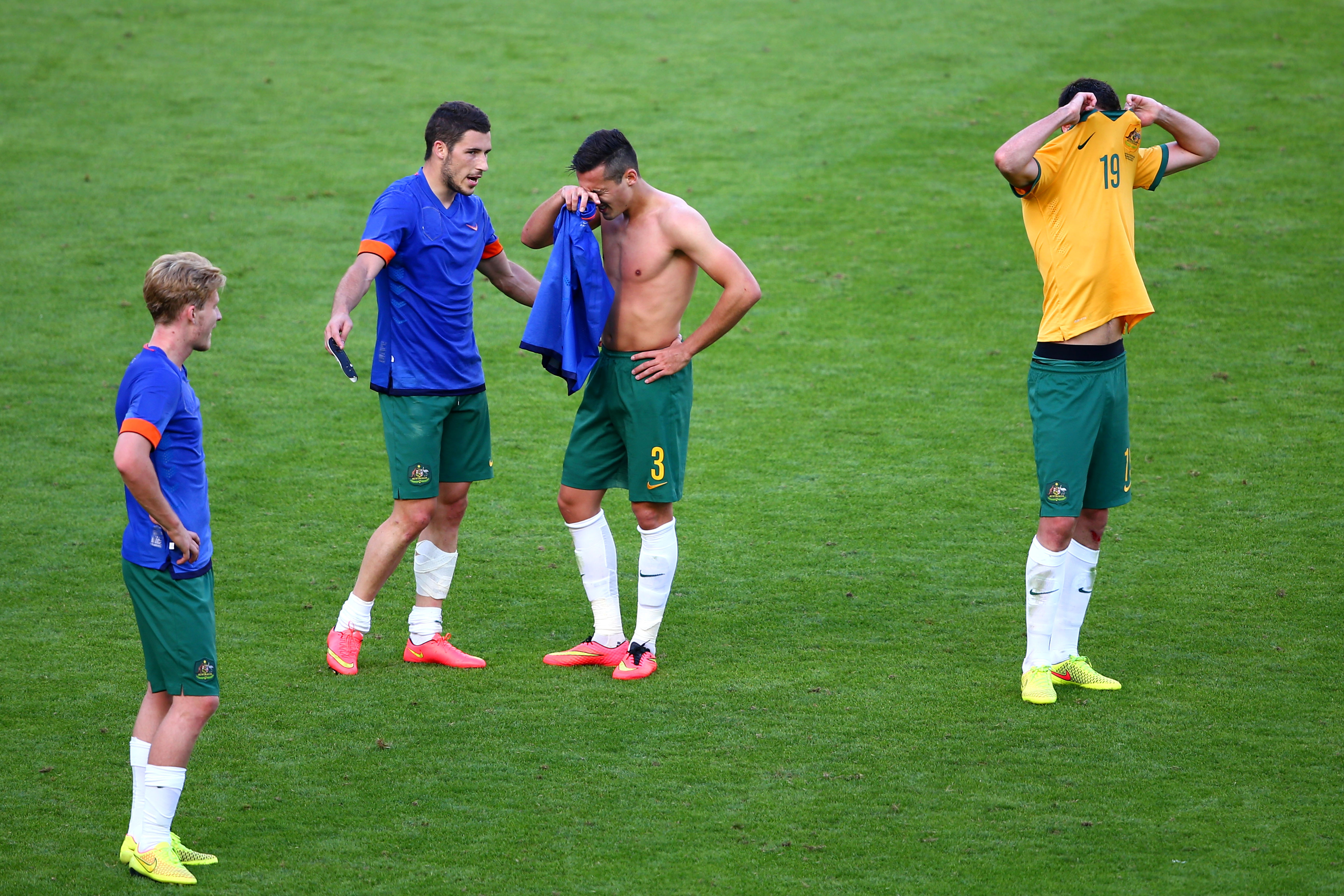 Australia players, World Cup 2014