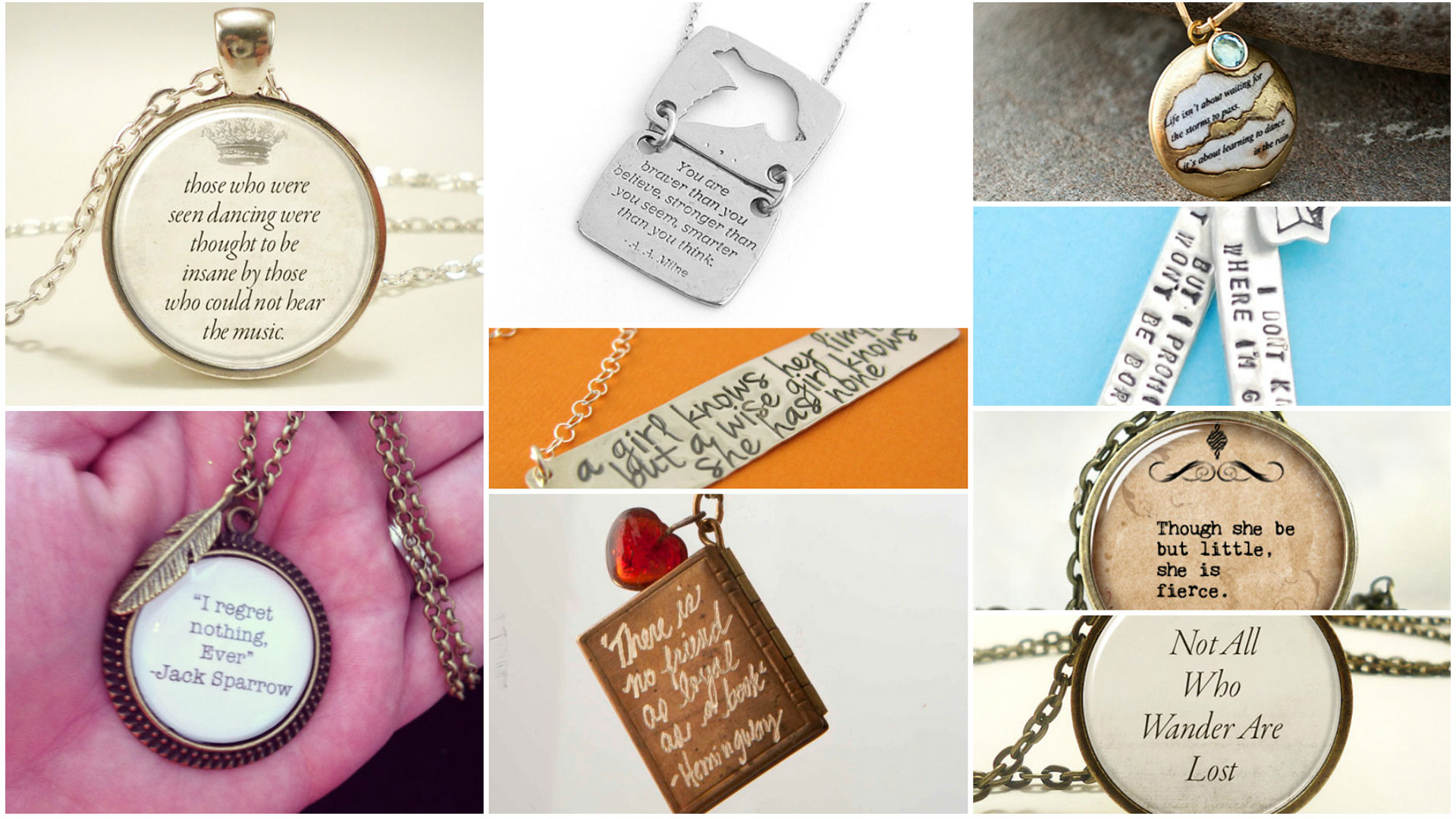Necklace collage