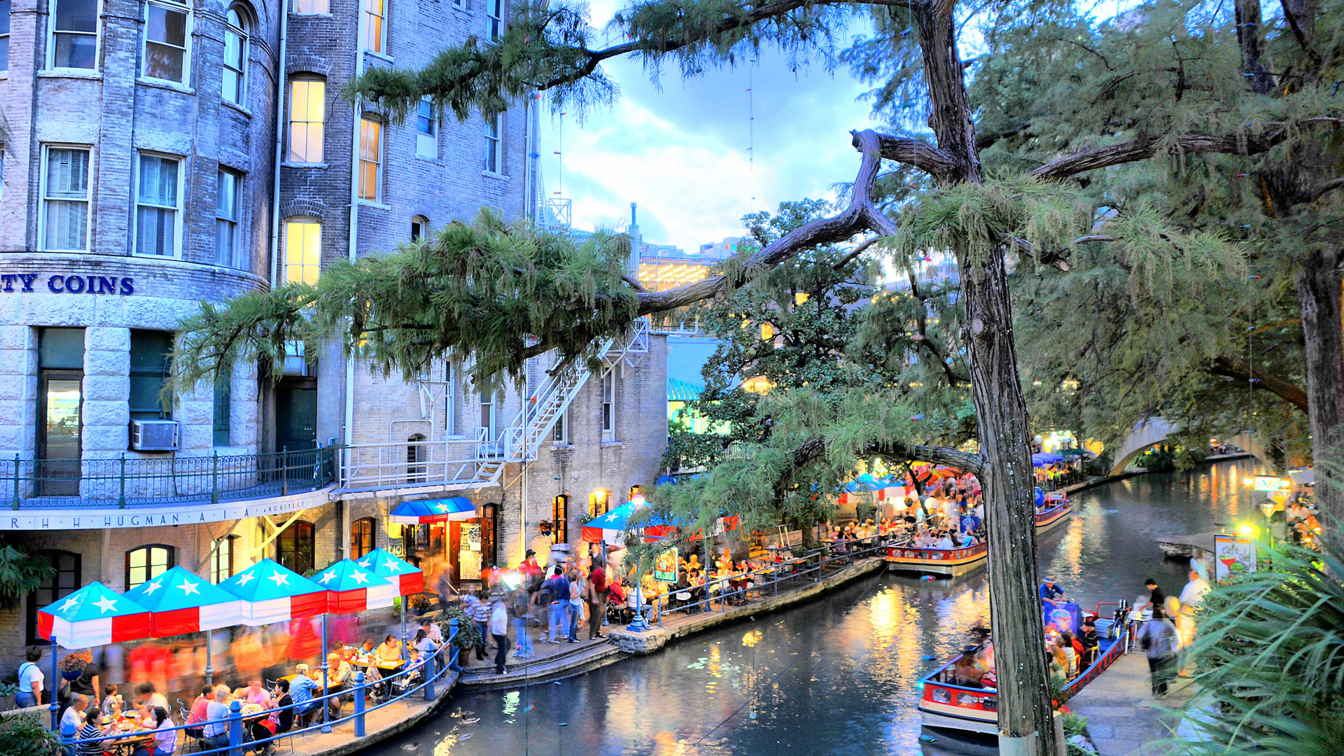 The Riverwalk in San Antonio, Texas
