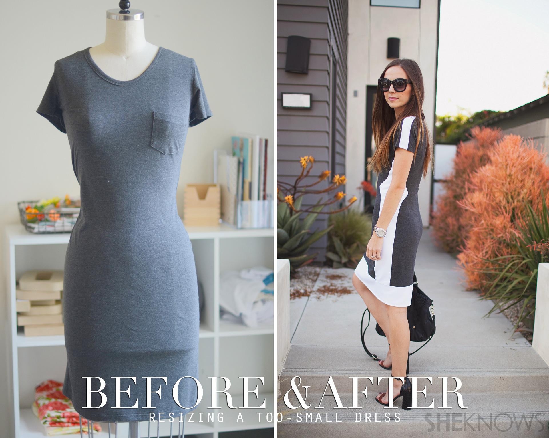 Biến chiếc váy chật thành trang phục hợp mốt - Ảnh 2