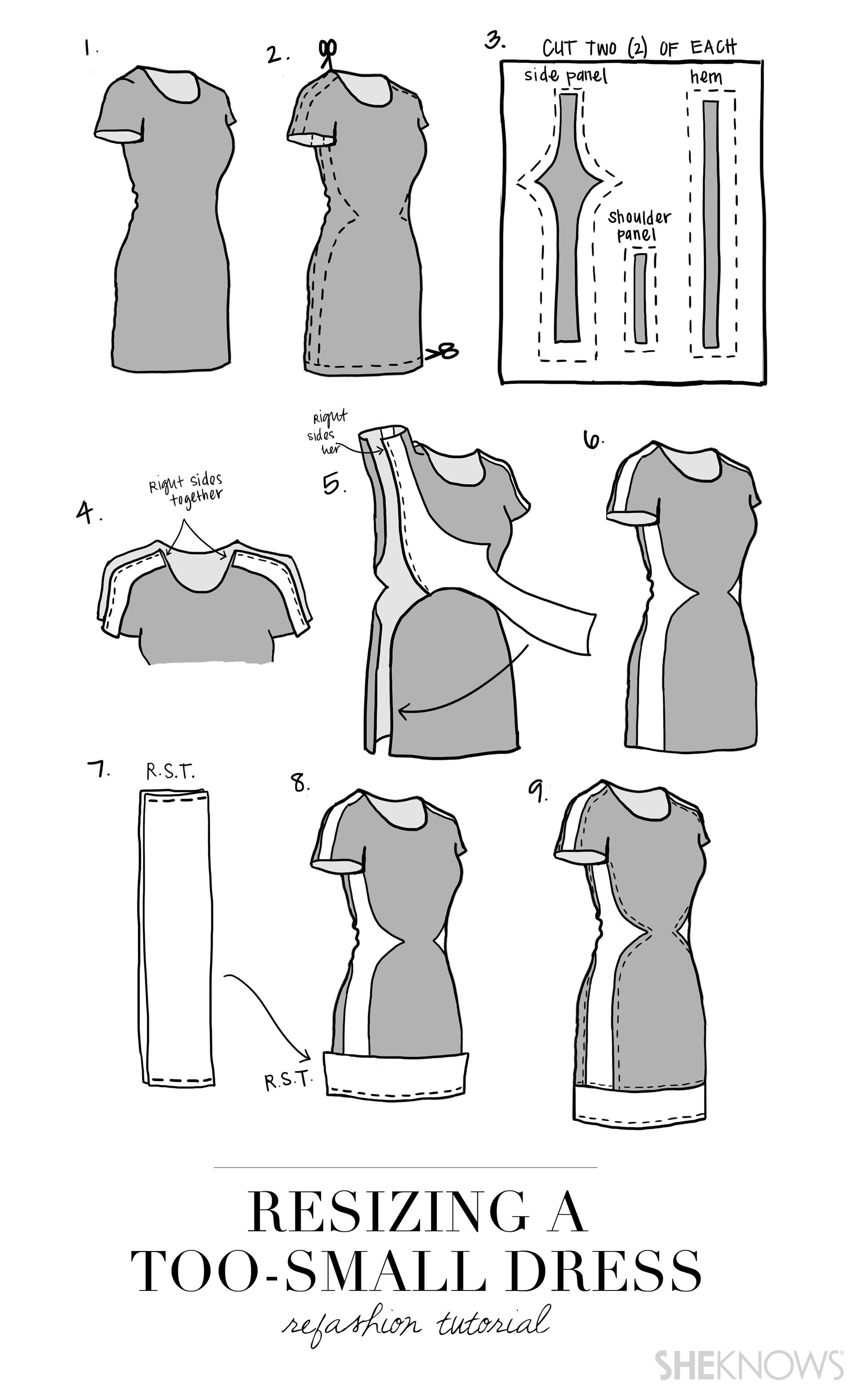 Biến chiếc váy chật thành trang phục hợp mốt ảnh 3
