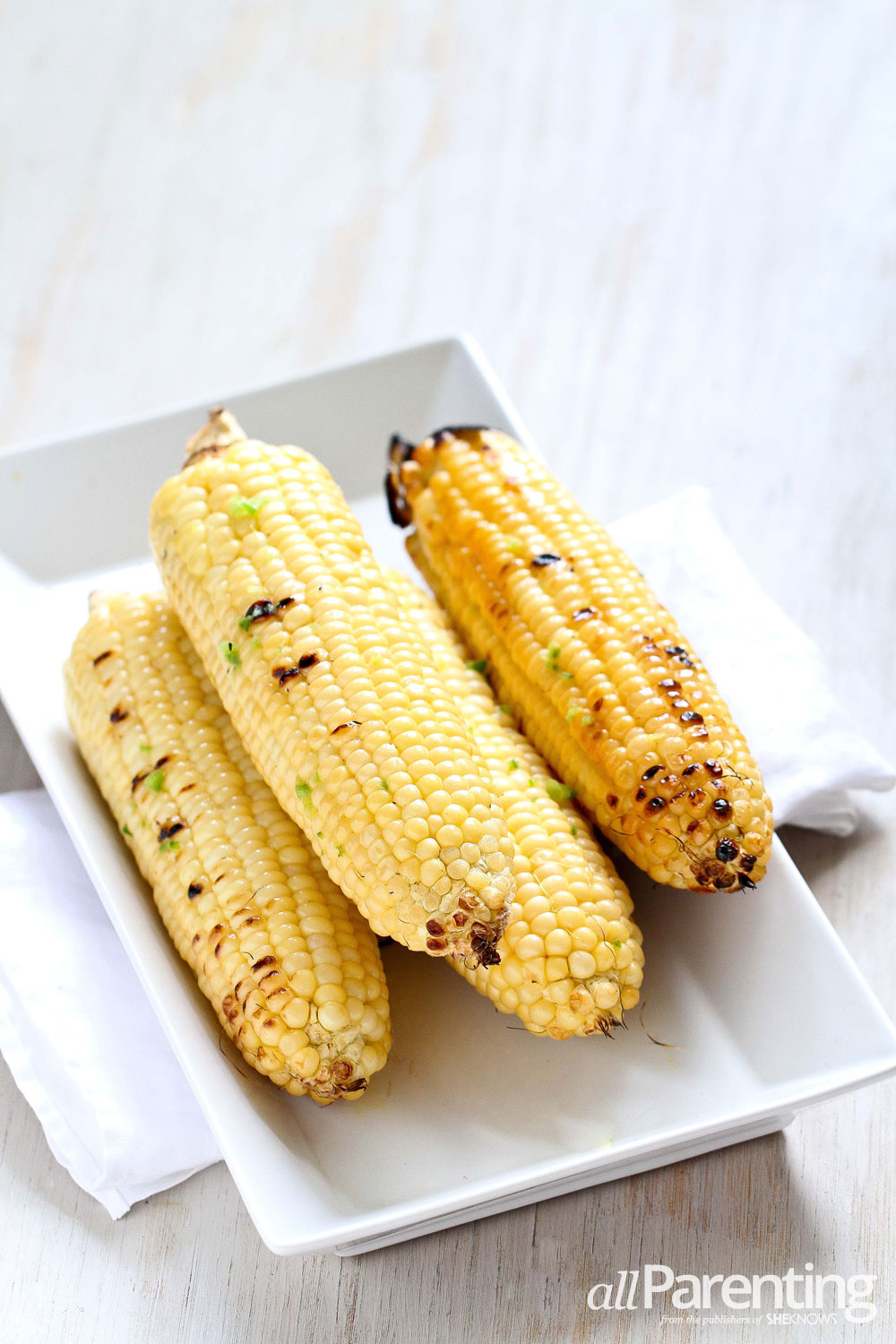 allParenting Grilled corn with lime & jalapeno butter