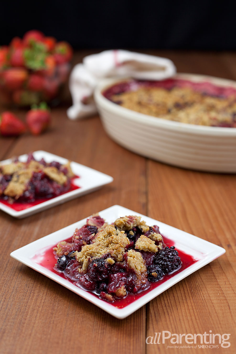 allParenting Berry fruit crisp