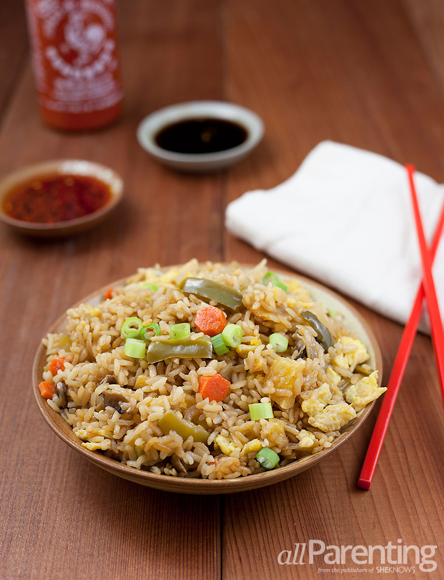 allParenting Vegetable fried rice with homemade teriyaki sauce