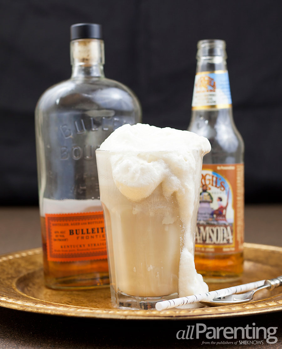 allParenting Bourbon and cream soda float