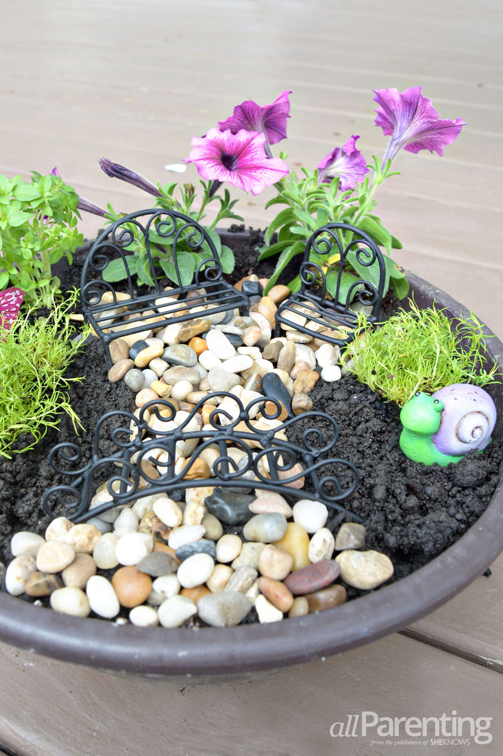 allParenting backyard fairy garden